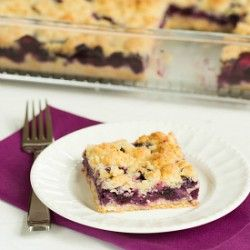 Blueberry Crumb Bars from Brown Eyed Baker - I've made her Peach Crumb Bars so I'm sure these will be fabulous