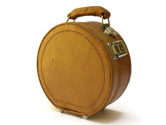 Vintage Leather Vanity Case. Brown Leather by LeBonheurDuJour