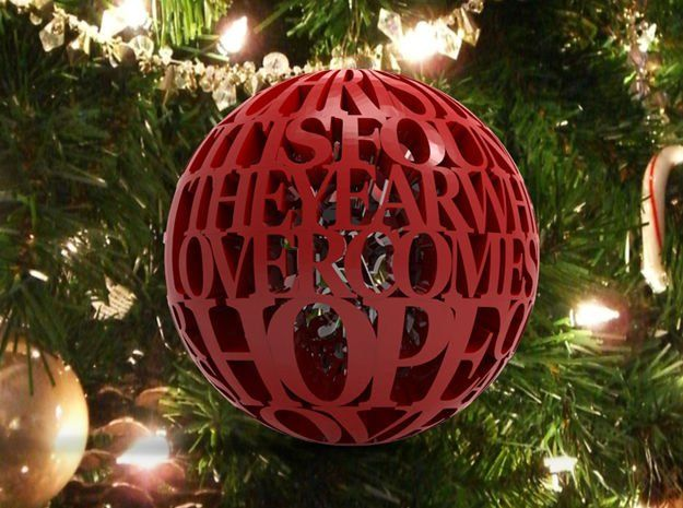 The Christmas State Of Mind Ornament Diy Holiday Decor 3d Printer Designs Ornaments Design