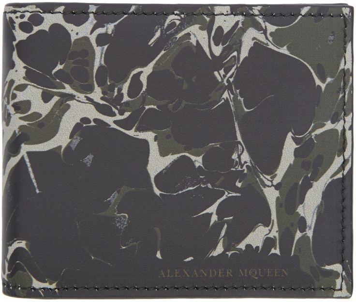 Alexander McQueen Black & Green Money Clip Wallet