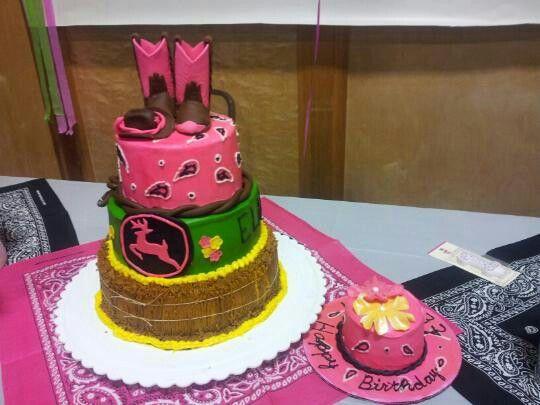 Country Girl John Deere Cake Nama Jodi Cakes Pinterest