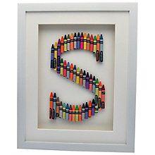 Buy The Letteroom Crayon S Framed 3D Artwork, 34 x 29cm Online at johnlewis.com