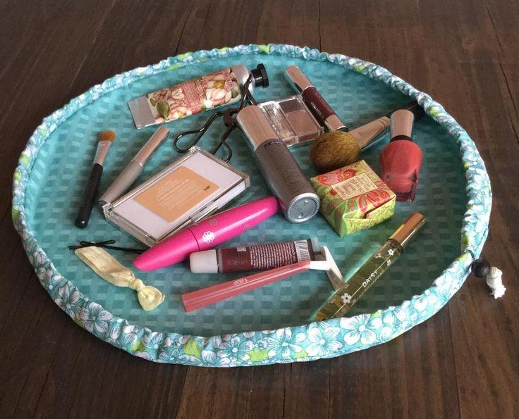 (9) Name: 'Sewing : 'Ana' Cinch-up Makeup Bag                                                                                                                                                     More