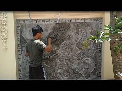 Beautiful Art Painting Sand And Cement On Concrete Wall Youtube Beautiful Art Paintings Cement Art Painting
