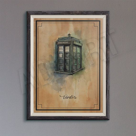 Tardis of Doctor Who illustration limited by ADAARTillustrations
