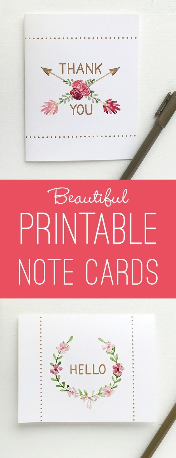 Beautiful Printable Note Cards 71 best Free