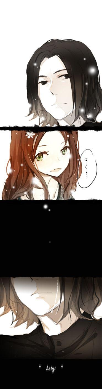 Lily Evans ♥ Severus Snape -  Harry Potter #love #forever