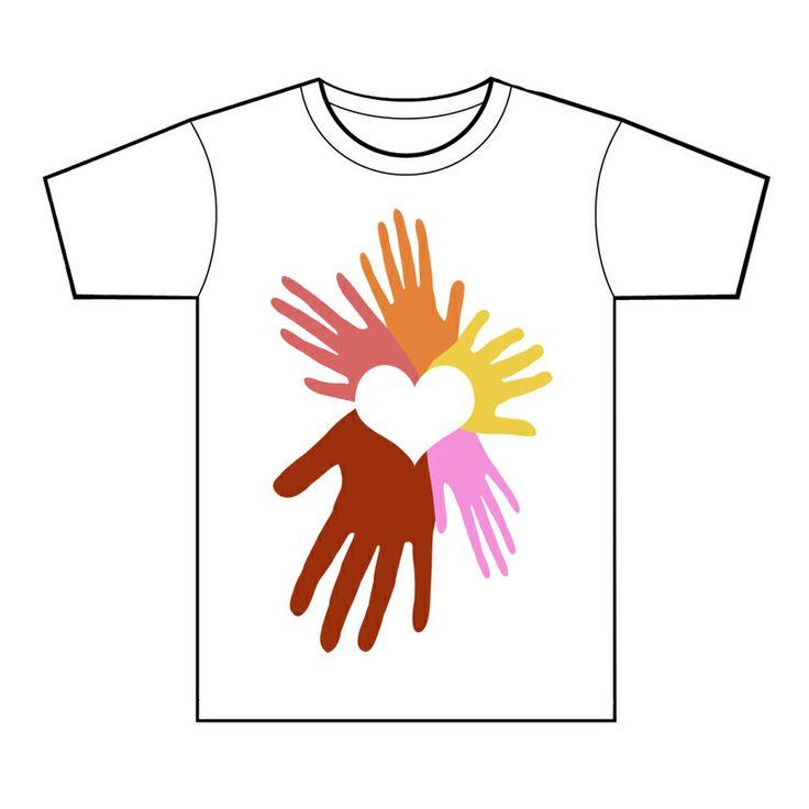 Progetto per la grafica di una t-shirt per l'Unicef. Matilde Lucchesi, 2013