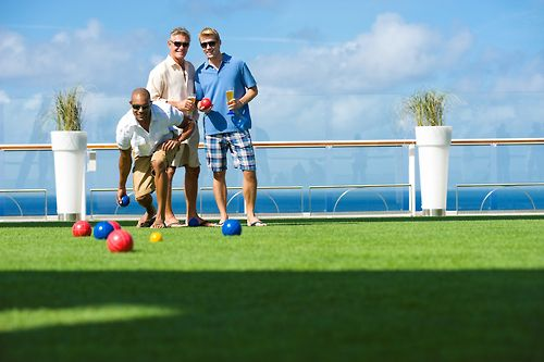 Bocce ball at the Lawn Club onboard Celebrity Cruises