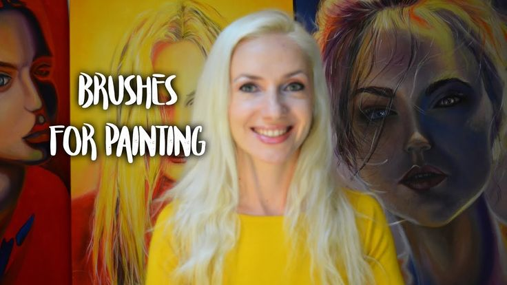 Types of brushes for painting - Art theory by Oana Unciuleanu