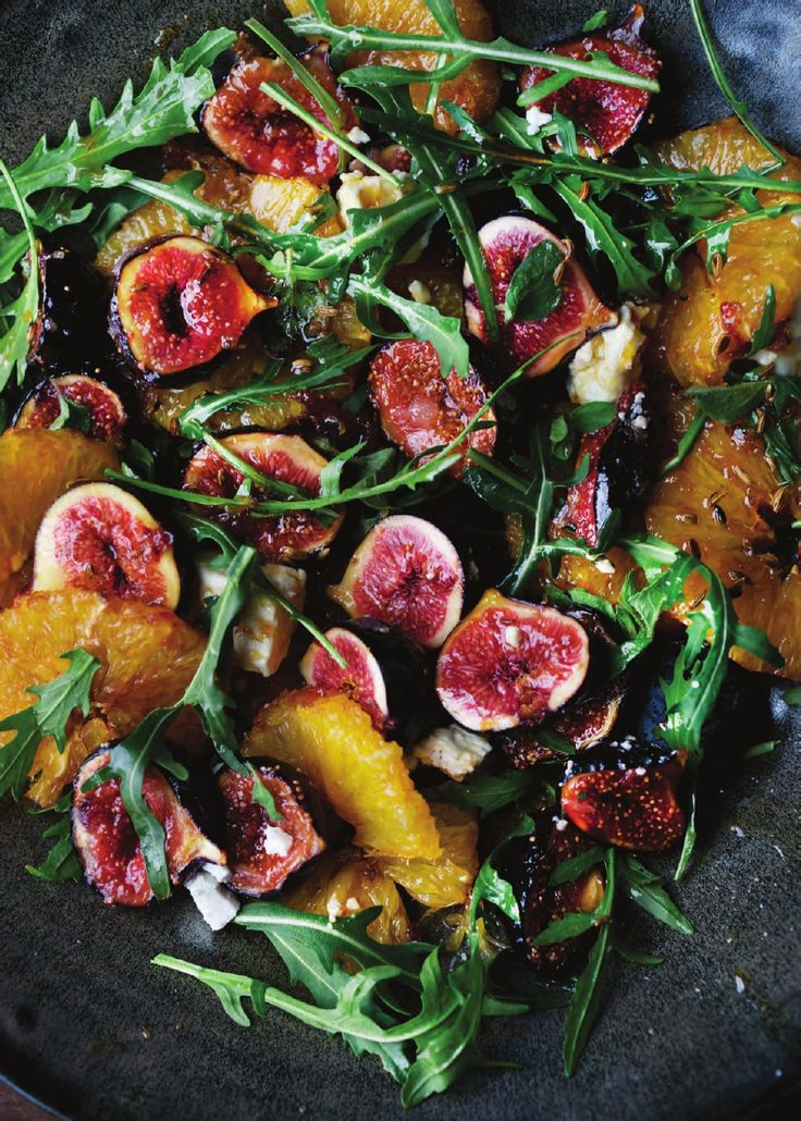 CARAMELIZED FIG, ORANGE, AND FETA SALAD from Plenty More by Yotam Ottolenghi -Recipes
