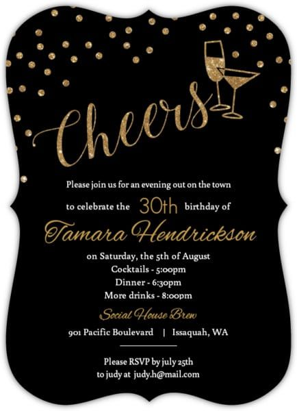Awesome Dirty 30 Birthday Invitation Templates
