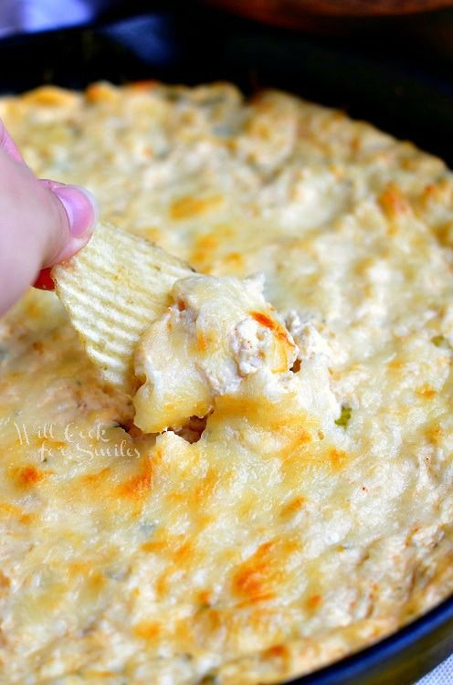 Spicy Chicken Ranch Dip #snack