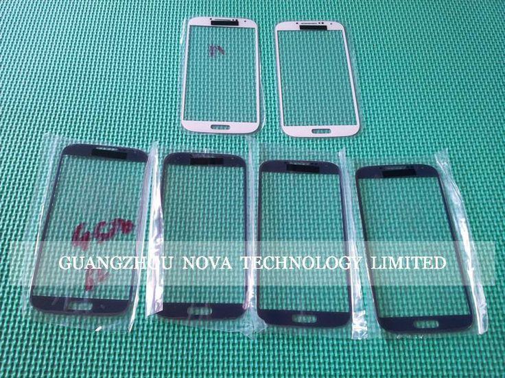 2 лот US $1.06/pc Для Samsung Galaxy S4 S 4 SIV I9500 Стекло Объектива Передняя Экран Замена Черный/белый/Синий; DHL Свободная 100 шт./лот