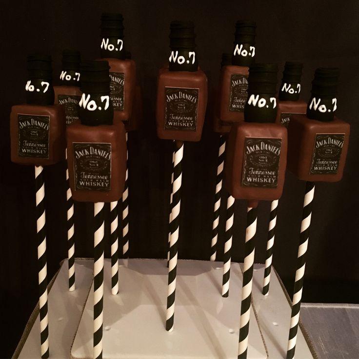 Jack Daniels Bottle Cake Pops Etsy.com/shop/candysimply
