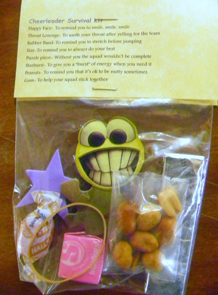 Cheerleader Survival Kit 8 Items Inside Novelty Gift Adorable | eBay