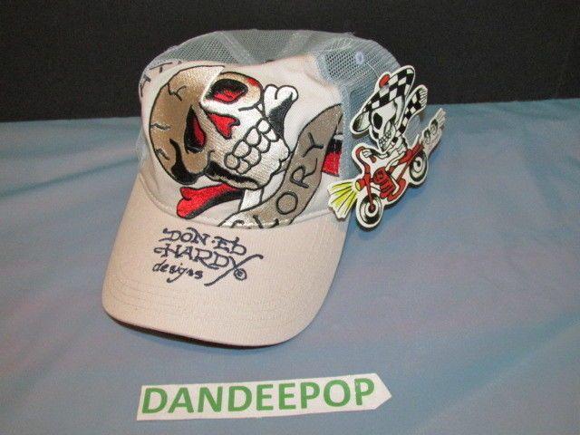 Don Ed Hardy Christian Audigier Skull & Crossbones Death Or Glory Hat NWT #ChristianAudigier #EdHardy #SkullAndCrossbones #Designer #ChristianAudiger #dandeepop Find me at dandeepop.com