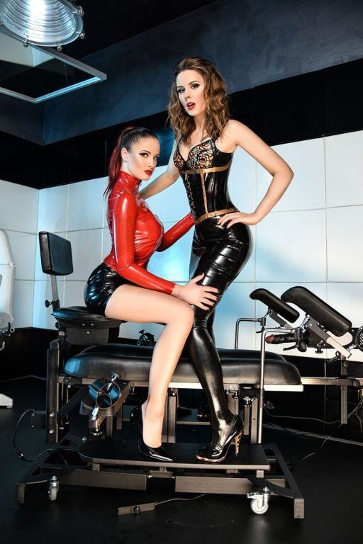 Latex Babes Being Drilling 1
