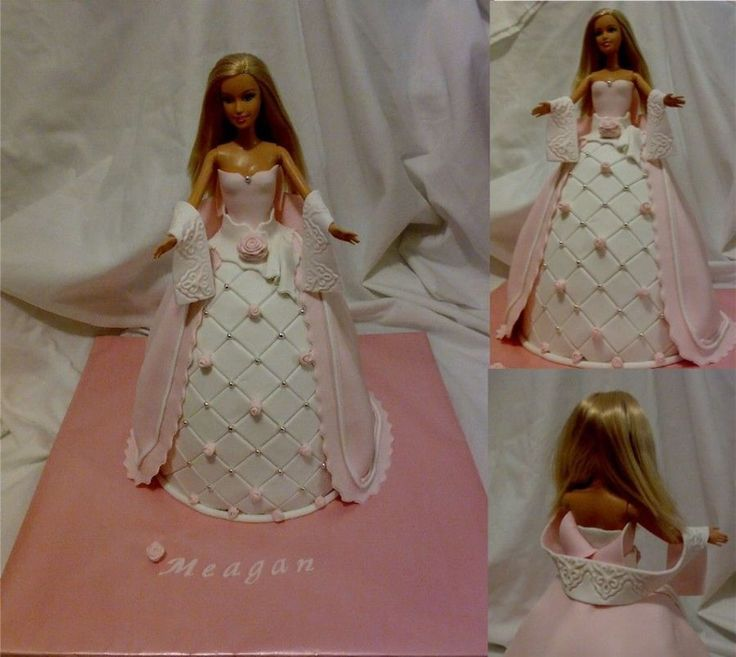 Barbie Cake First attempt! LOADS of inspiration from lots of pics on here. She's a real doll, in brownie cake, using a dolly varden...