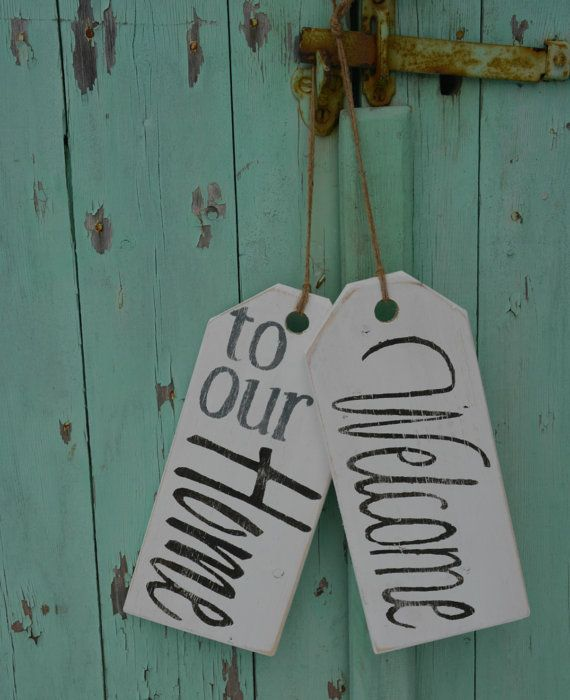 314 best images about tags on pinterest wood gifts - Wooden door signs for home ...