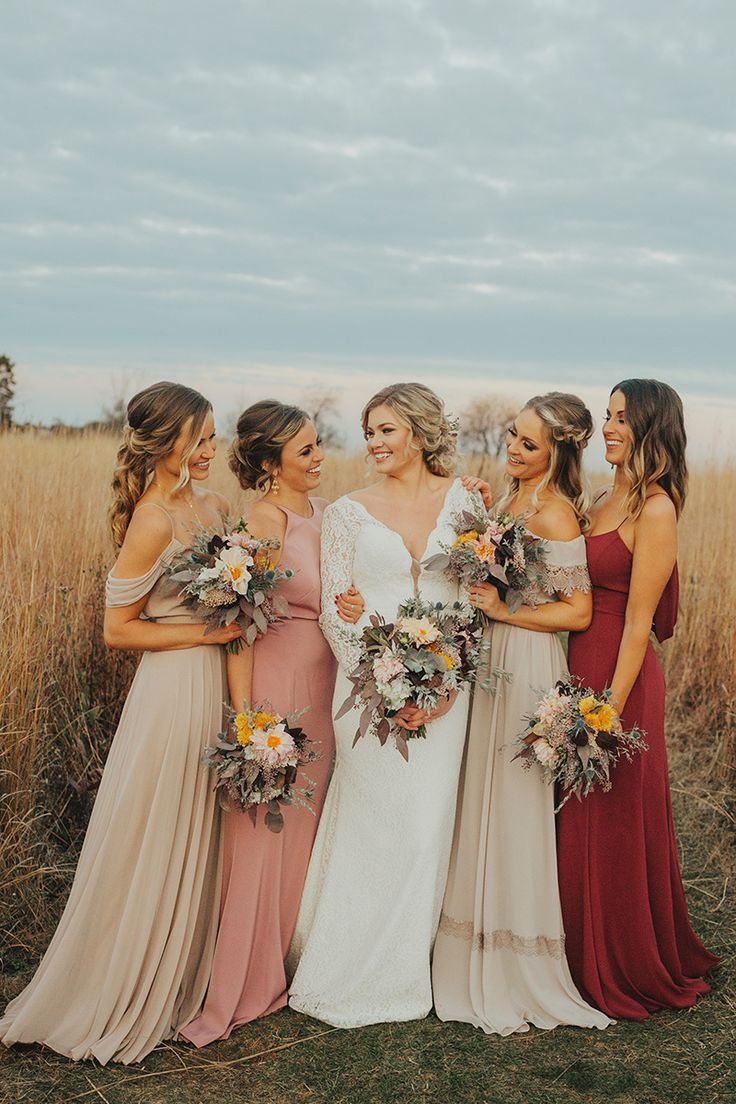 The 25 best taupe bridesmaid ideas on pinterest ivory wedding mismatched bridesmaids burgundy and taupe bridesmaids miss ruby boutique in milwaukee photography by ombrellifo Choice Image