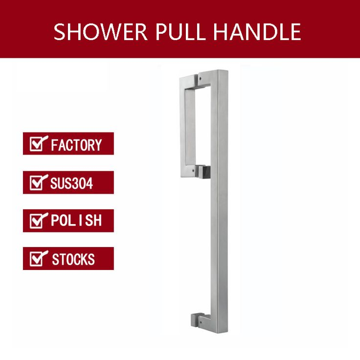 Shower Door Handle 304 Stainless Steel Pull Handles For Glass PA-658-Polish