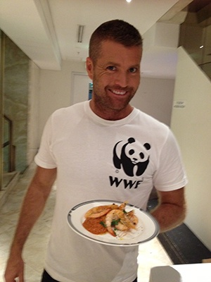 #SustainableSeafoodDay celeb chef Ambassador Pete Evans - thanks Pete for sticking up for our oceans!