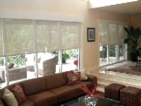 Somfy Motorized Screen Shade In Miami Expressive Design