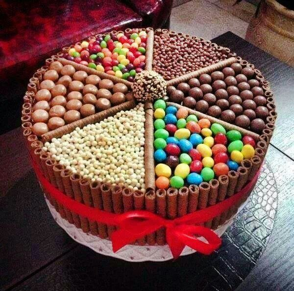 Multi candy cake