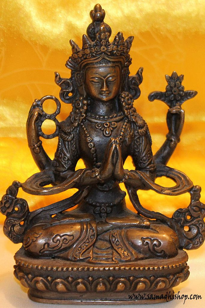 Chenrezig (Avalokiteshvara) copper statue