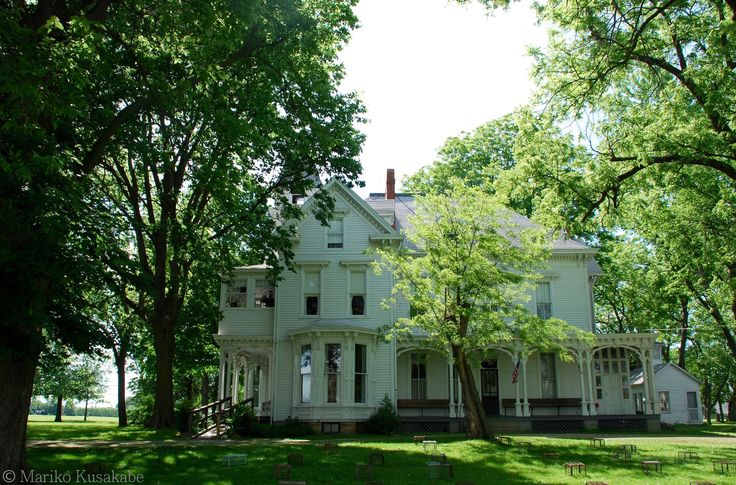 """"""" John C. Anderson House """" in Carlinville Illinois  """" Route 66 on My Mind """" Route 66 blog ; http://2441.blog54.fc2.com/ https://www.facebook.com/groups/529713950495809/ http://route66jp.info/"""