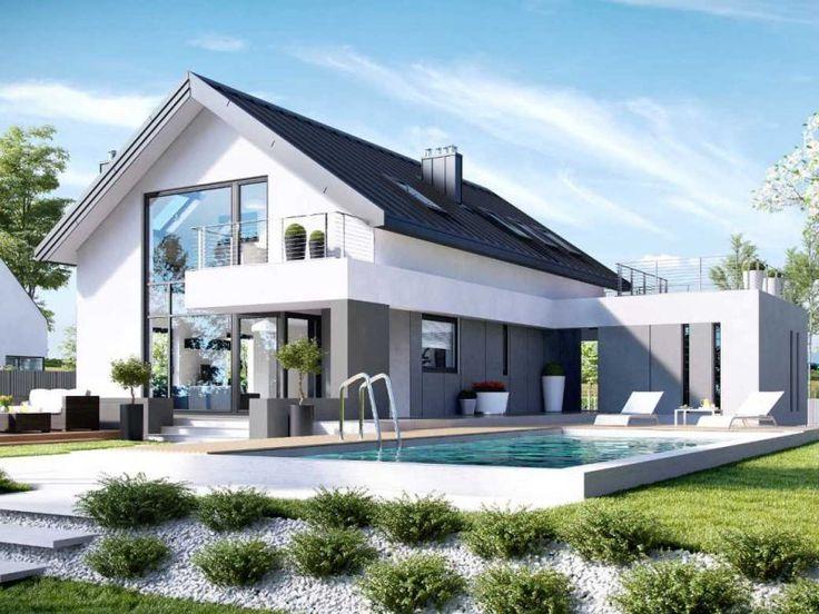 HOMEKONCEPT 2 to projekt domu nowoczesnego z poddaszem, przeznaczony dla 4-5 osób. Atrakcyjna bryła zainteresuje miłośników antresoli i niebanalnych rozwiązań. Dużo przeszkleń sprawia, że salon staje się optycznie większy. Idealny dla osób lubiących otwarte przestrzenie.