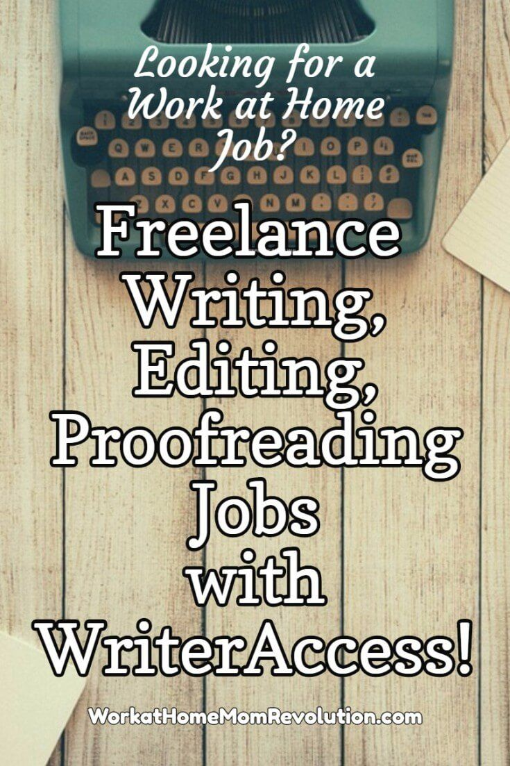 WriterAccess is seeking freelance writers, editors, and proofreaders to help its 20,000+ clients. Set your own schedule. Work from home. Competitive pay. Awesome work at home opportunity. If you're seeking a home-based writing job, this might be perfect for you. You can make money from home!