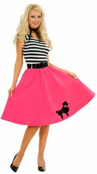 Plus Size Fuchsia Poodle Dress Costume - 50's Costumes - Candy Apple Costumes