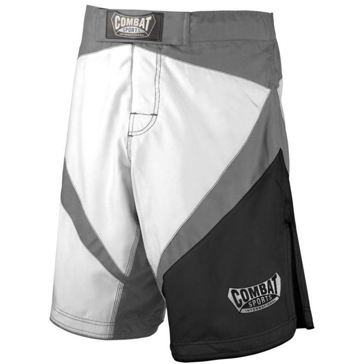 Combat Sports Fight MMA Boardshorts, Adult Unisex, Size: 40, White