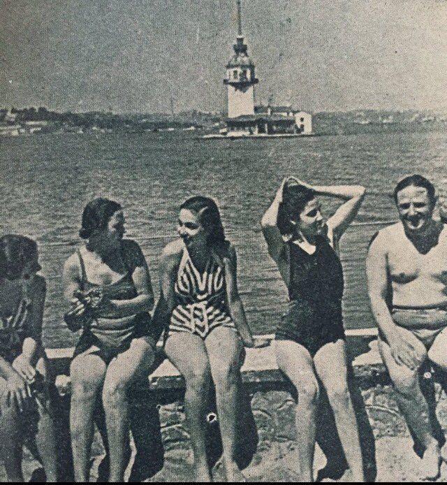 Üsküdar Salacak plajı 1930 lar ...