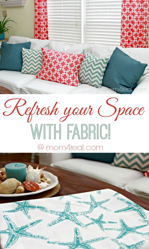 Refresh Your Space With Fabric! #RefreshwithOFS @Jessica Kielman         {Mom 4 Real}