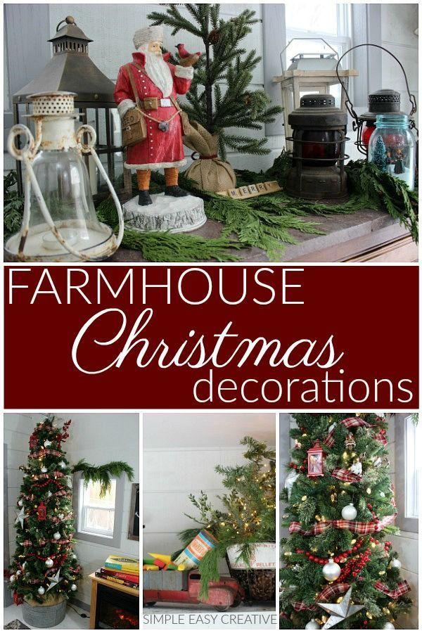 Farmhouse Christmas Decorating Ideas  #farmhouse