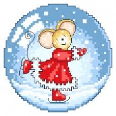 Furry Tales Snowglobe Cross Stitch Pattern
