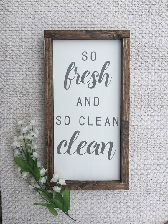 So Fresh And So Clean Clean 9 X16 Add A Farmhouse Touch To Your Bathroom Or Laundry Area With Th Wood Bathroom White Laundry Rooms Grey Stained Wood
