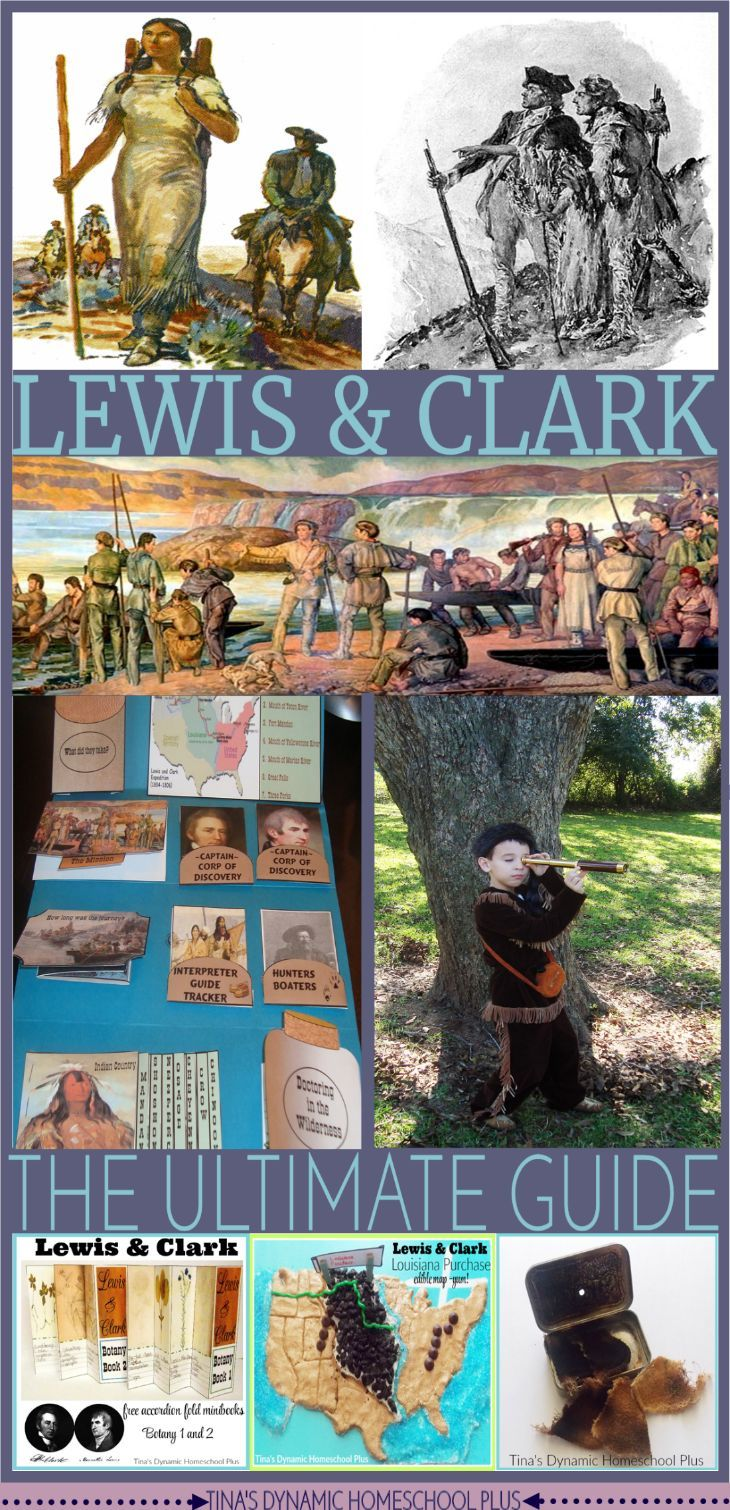 Lewis and Clark - The Ultimate Guide.Find hands on activities and free teaching guides as you learn about the Lewis and Clark trail and the Louisiana Purchase @ Tina's Dynamic Homeschool Plus