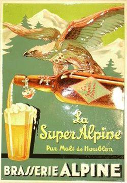Publicité vintage - la Super Alpine - Bière
