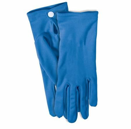 Our Short Blue Gloves make an excellent add-on accessory to any costume for mix n' match variety, sports, theater, or even Halloween!