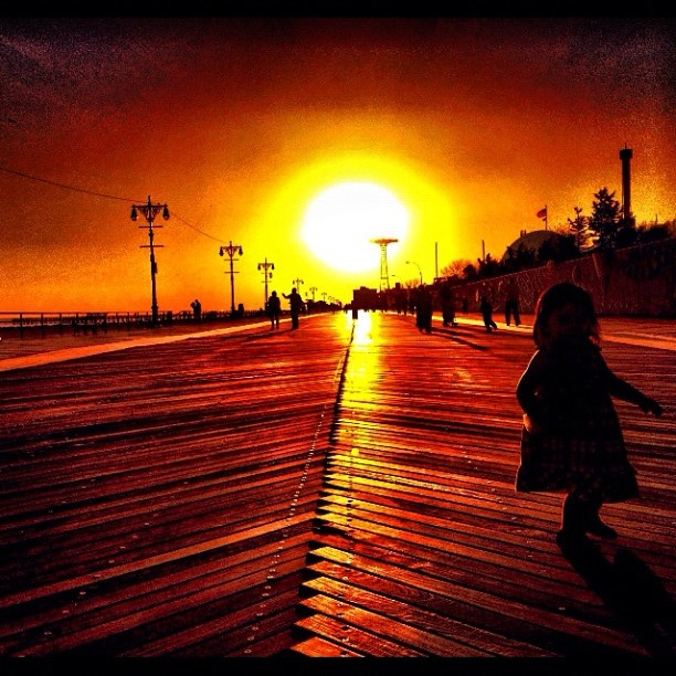 Island Beach Sunset: Coney Island Boardwalk #sunset #beach