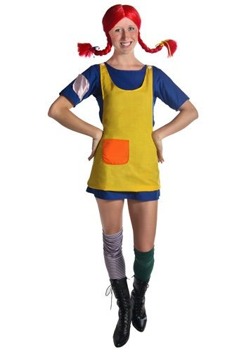 Adult Pippi Longstocking Costume - Classic Storybook Costumes