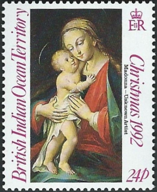 Stamp: Madonna and Child (British Indian Ocean Territory) (Christmas 1992) Mi:IO…