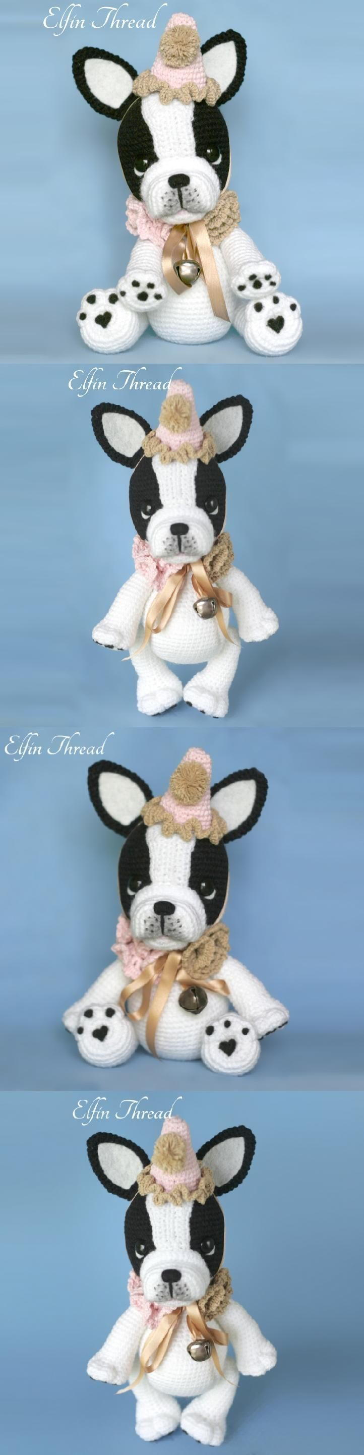 Gaspard The French Bulldog Amigurumi Pattern