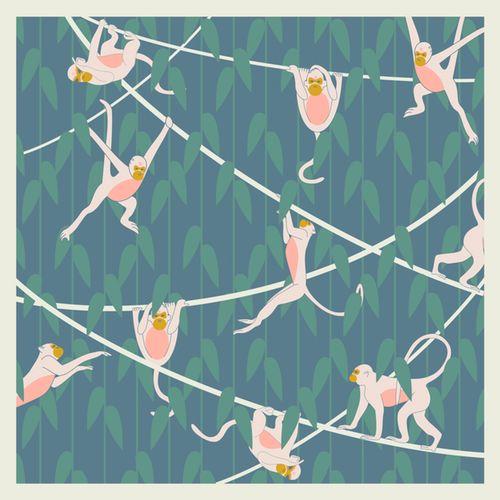 Image of Monkeys Silk Scarf