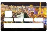 Autocollant Las Vegas pour carte de crédit