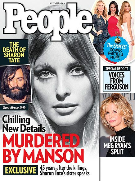 ON NEWSSTANDS 8/29/14: 45 years after the Manson murders, Sharon Tate's sister speaks out. Plus: Inside TV's biggest night and more.